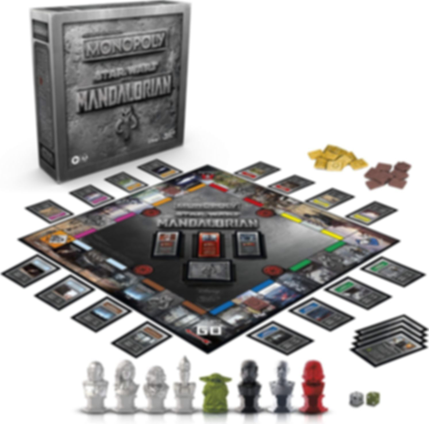 Monopoly: Star Wars The Mandalorian komponenten