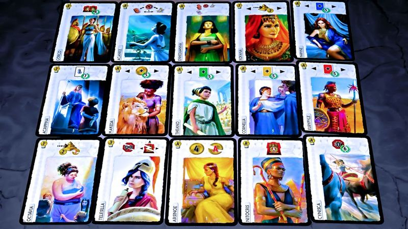 7 Wonders: Leaders Anniversary Pack cards