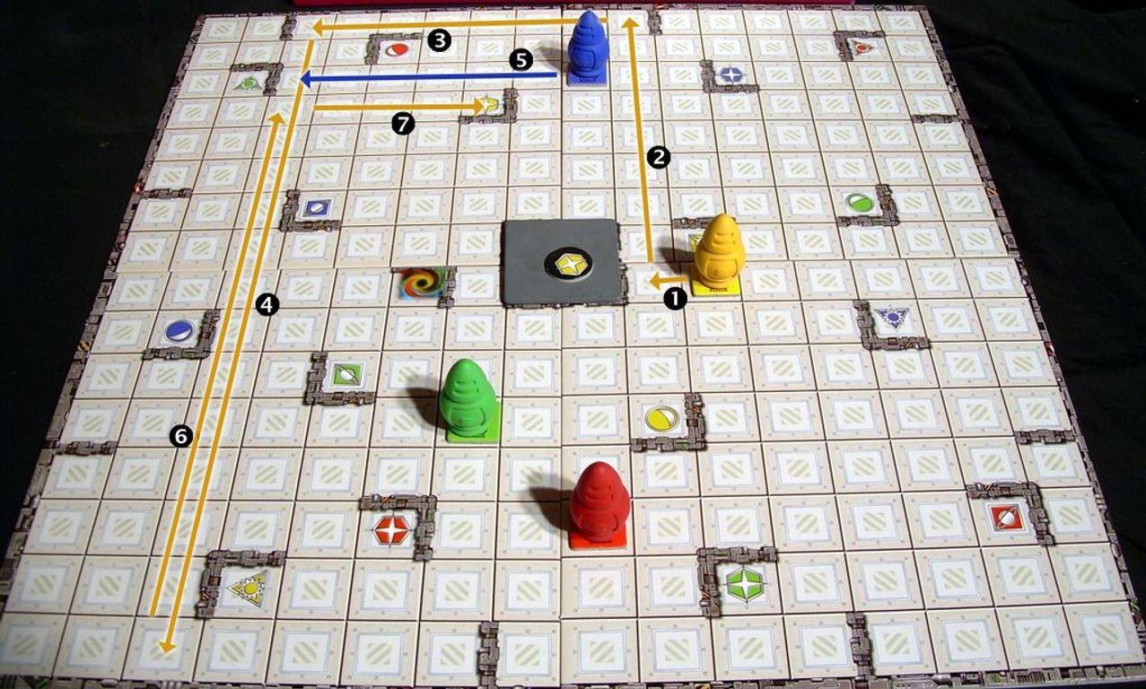 Ricochet Robots gameplay
