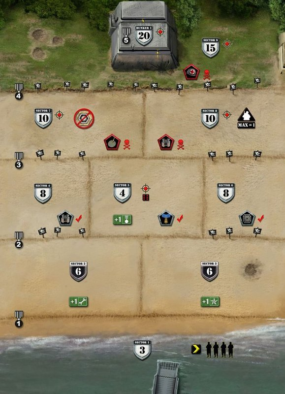 D-Day Dice: 2nd Edition game board