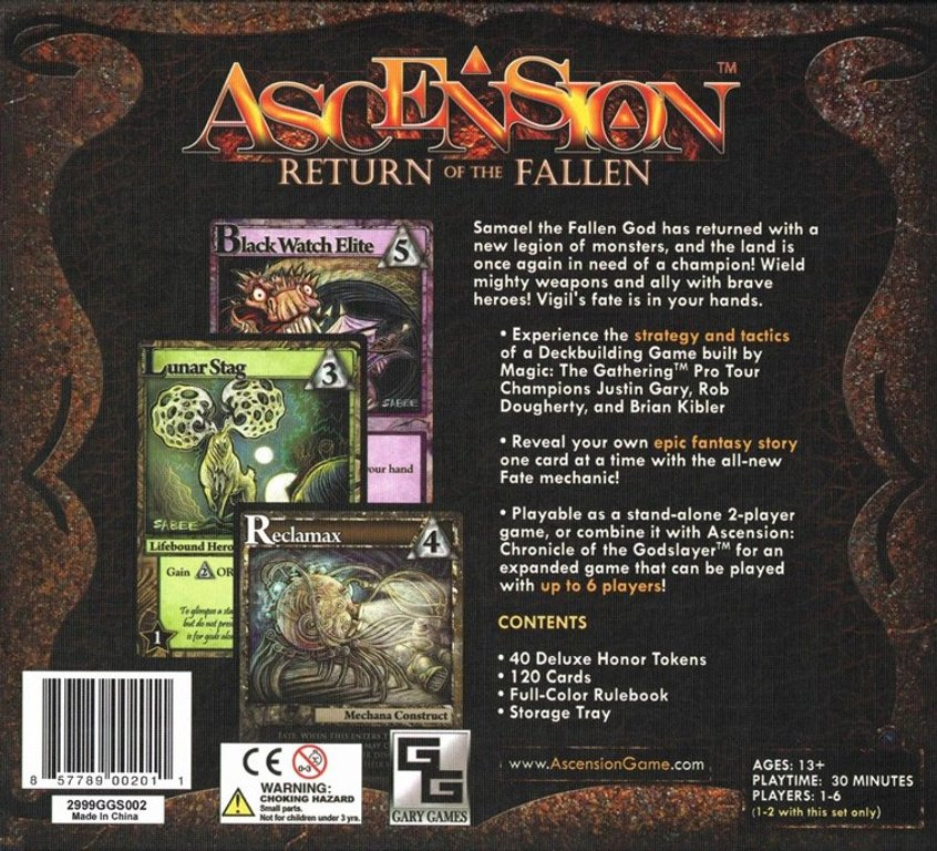 Ascension: Return of the Fallen back of the box