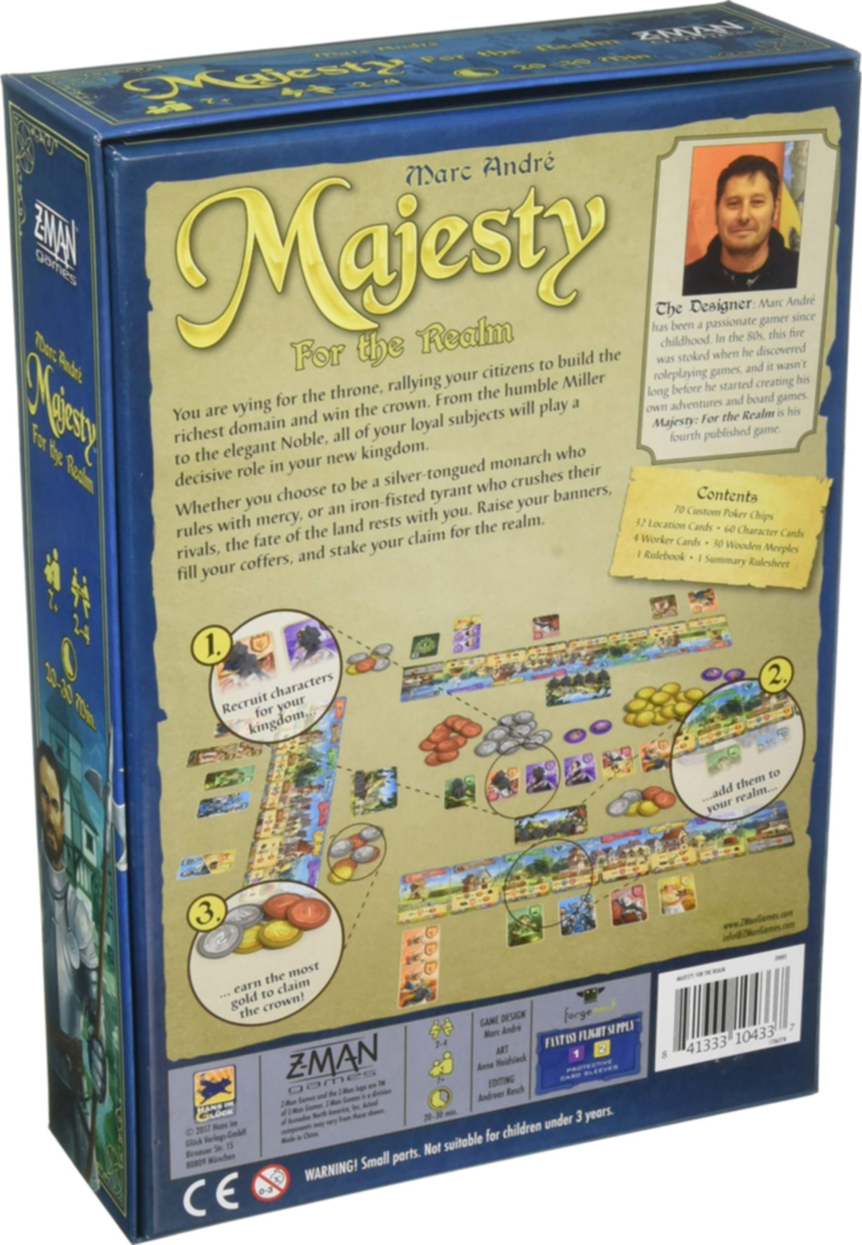 Majesty: For the Realm back of the box