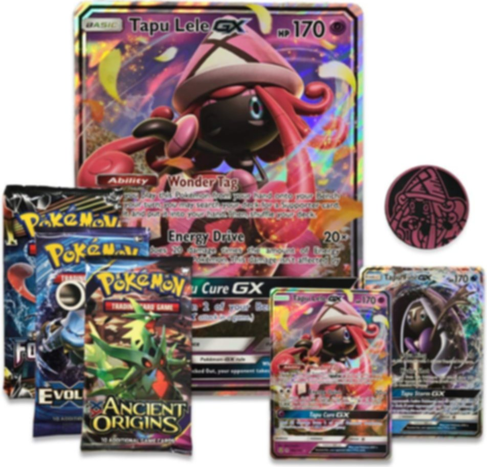 Pokemon Island Guardians GX Premium Collection components