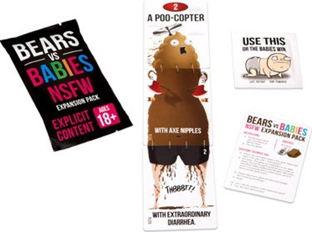 Bears vs Babies: NSFW Expansion Pack components