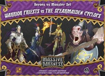 Massive Darkness: Heroes & Monster Set - Warrior Priests vs The Spearmaiden Cyclops