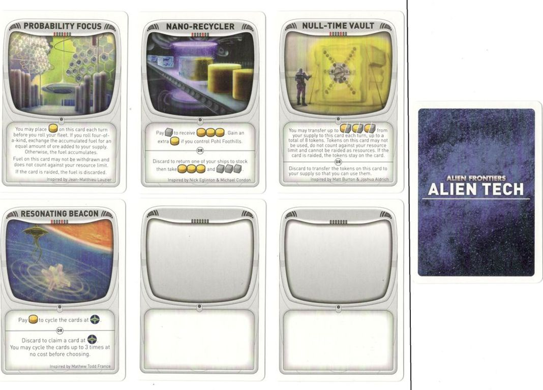Alien Frontiers: Expansion Pack #4 cards