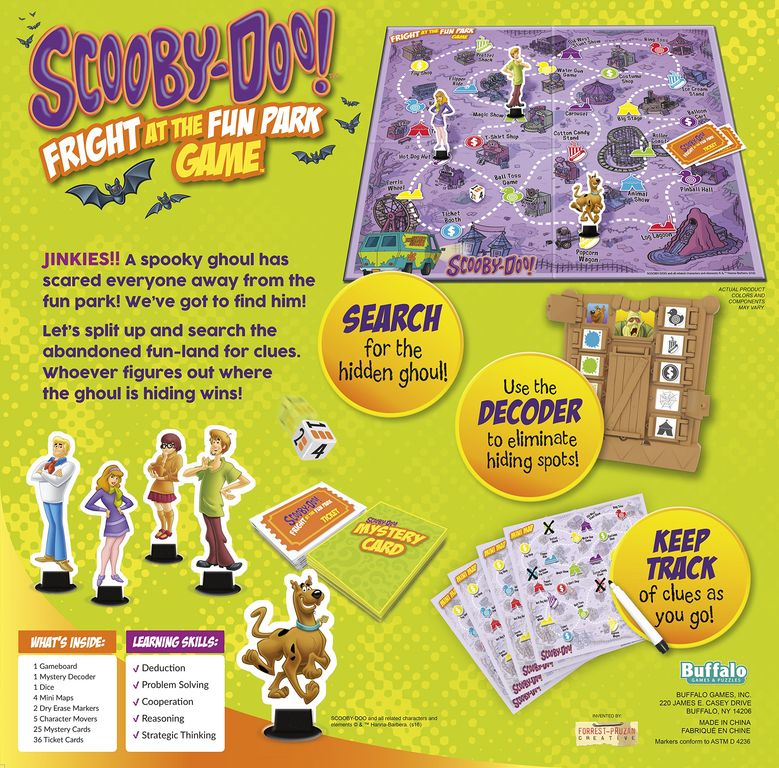 Scooby-Doo Fright at the Fun Park back of the box
