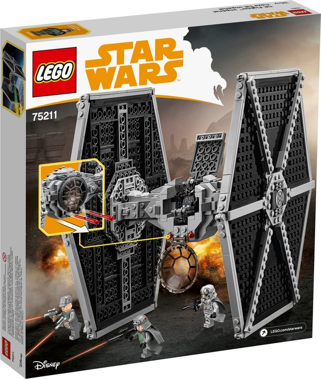 LEGO® Star Wars Imperial TIE Fighter™ back of the box