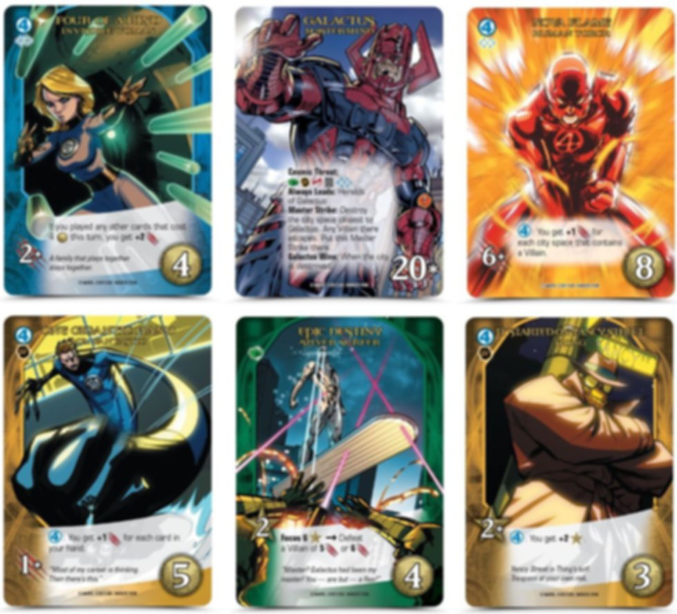 Legendary: Fantastic Four cards