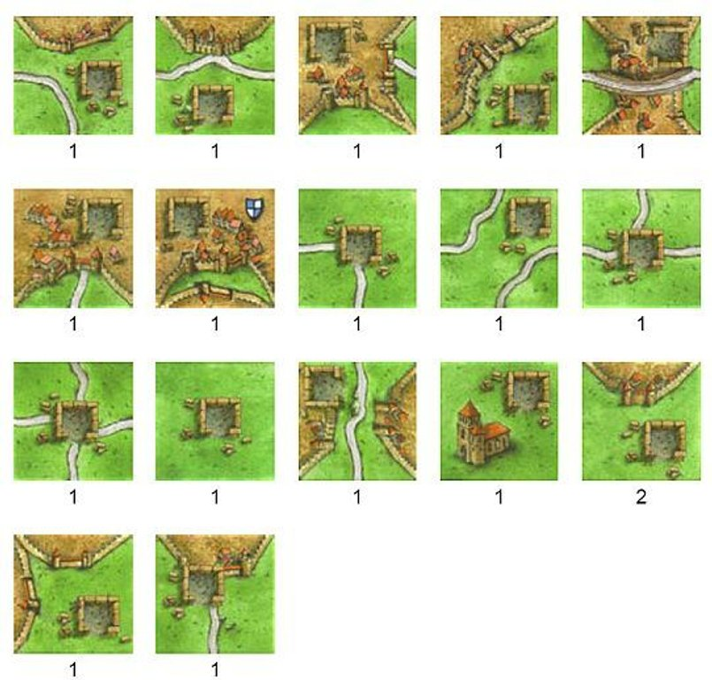 Carcassonne: The Tower tiles