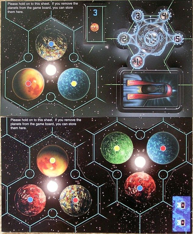 Starfarers of Catan: 5-6 Player Expansion components