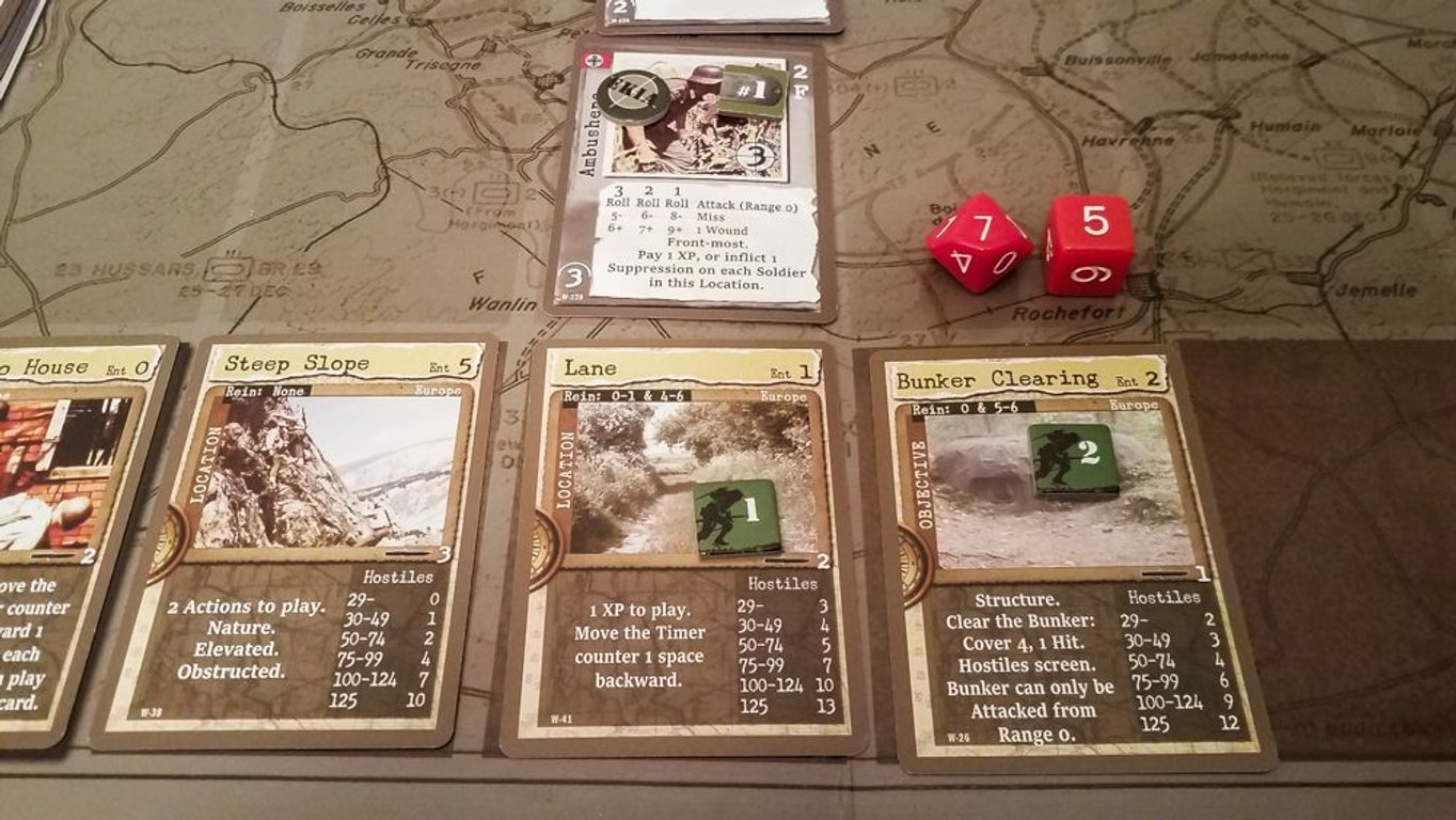 Warfighter: The WWII Tactical Combat Card Game gameplay