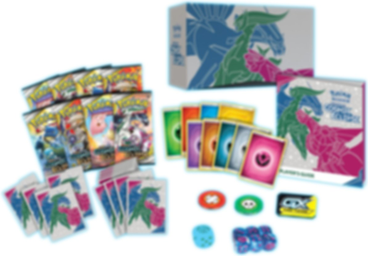 Pokemon Sun & Moon - Cosmic Eclipse Trainer Box components