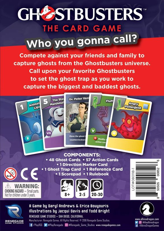 Ghostbusters: The Card Game back of the box