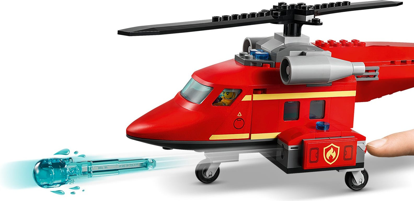 LEGO® City Fire Rescue Helicopter components