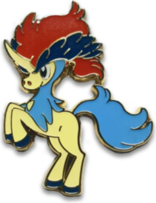 Pokémon Trading Card Game - 20th Anniversary Pin Box - Keldeo components
