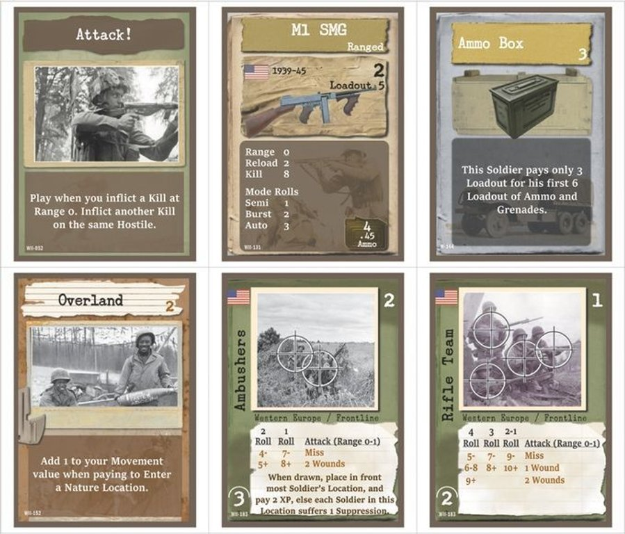 Warfighter: WWII Expansion #1 - United States! cards