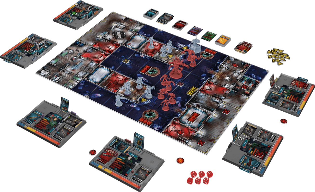 Zombicide: Dark Side components