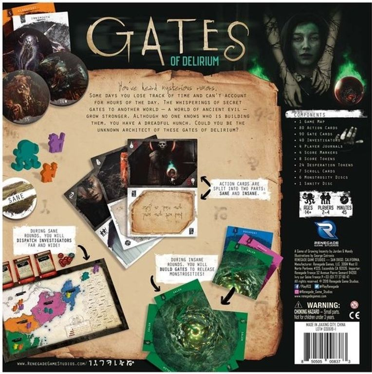 Gates of Delirium back of the box