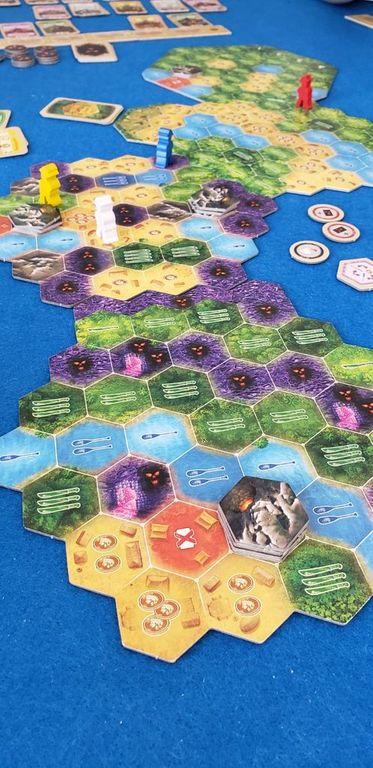 The Quest for El Dorado: Heroes & Hexes gameplay