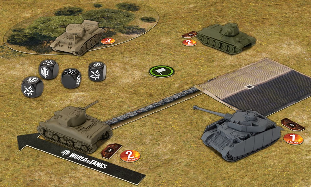 World of Tanks: Miniatures Game components