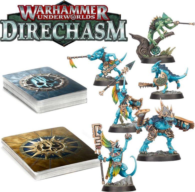 Warhammer Underworlds: Direchasm – The Starblood Stalkers components
