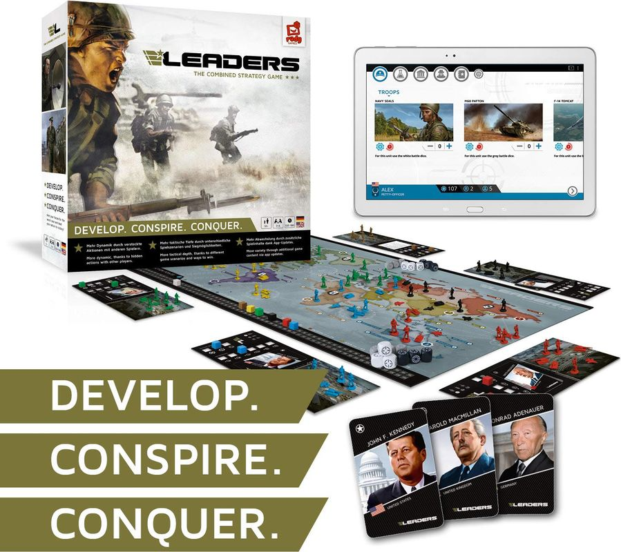 LEADERS: The Combined Strategy Game components