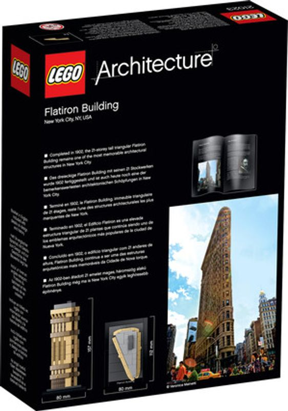 Flatiron building back of the box