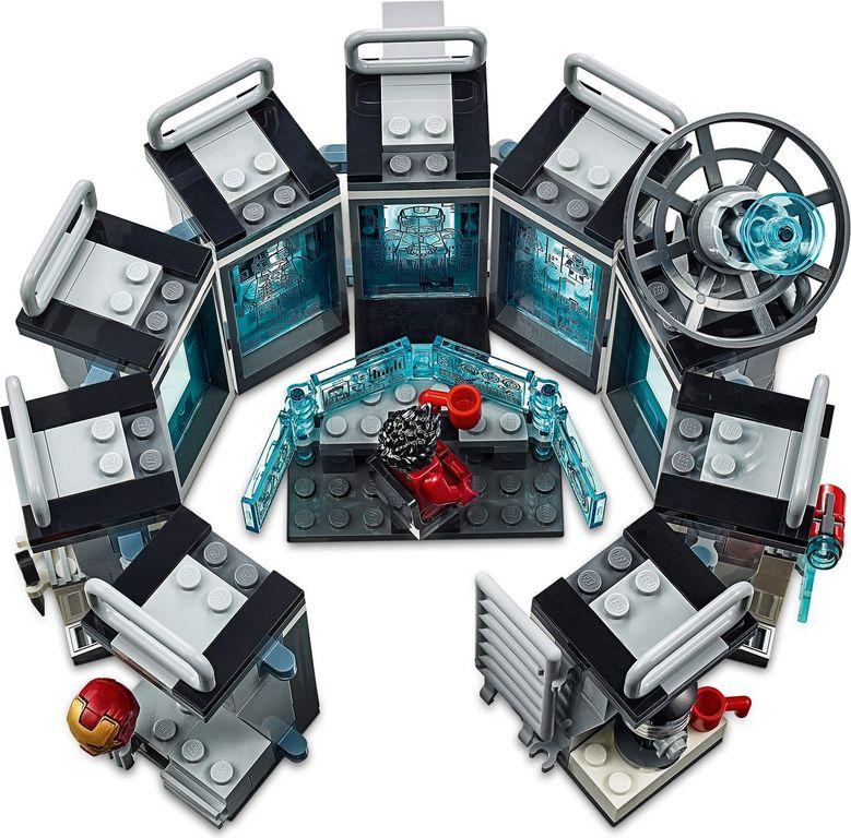 LEGO® Marvel Iron Man Hall of Armor components