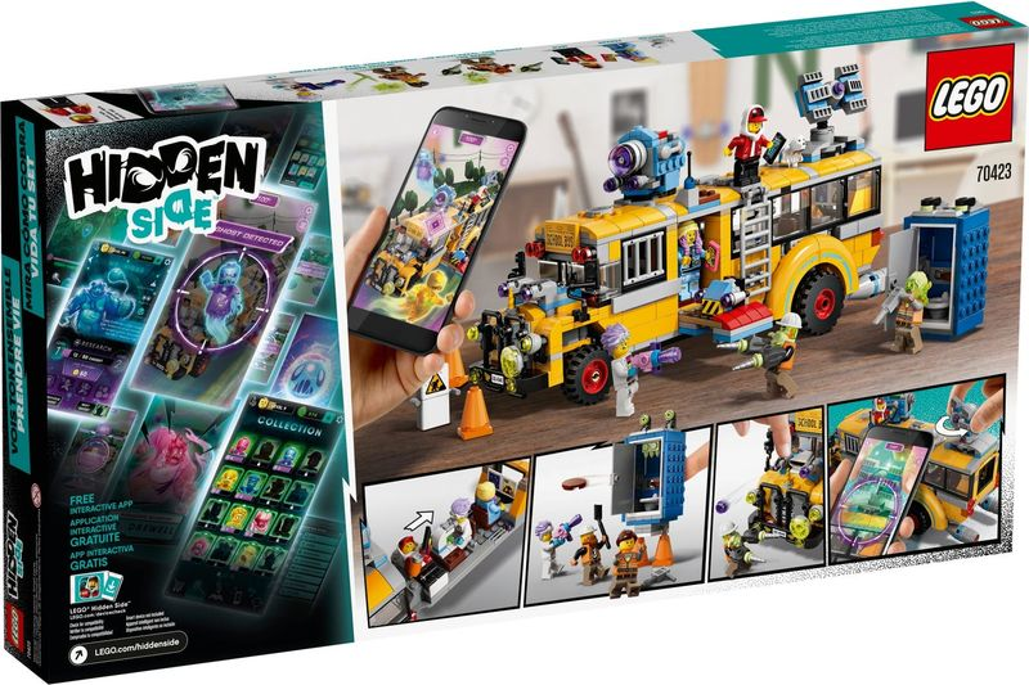 LEGO® Hidden Side Paranormal Intercept Bus 3000 back of the box