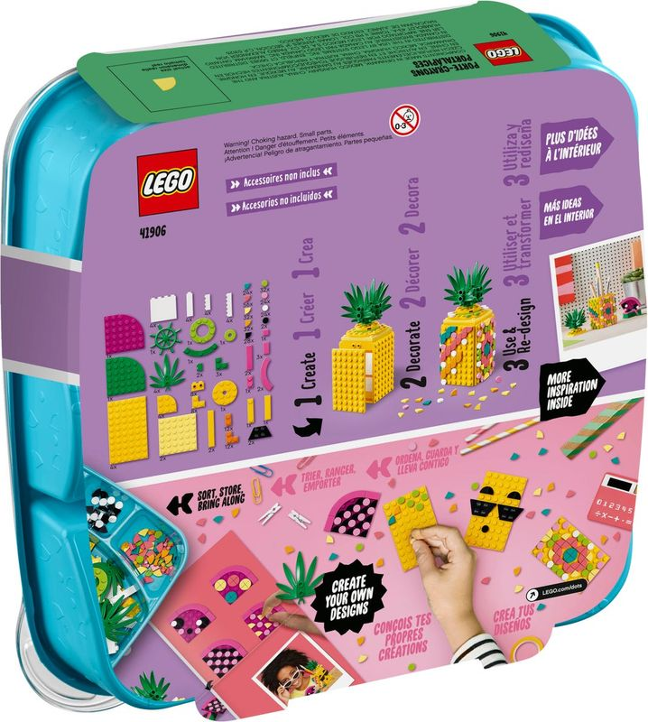 LEGO® DOTS Pineapple Pencil Holder back of the box