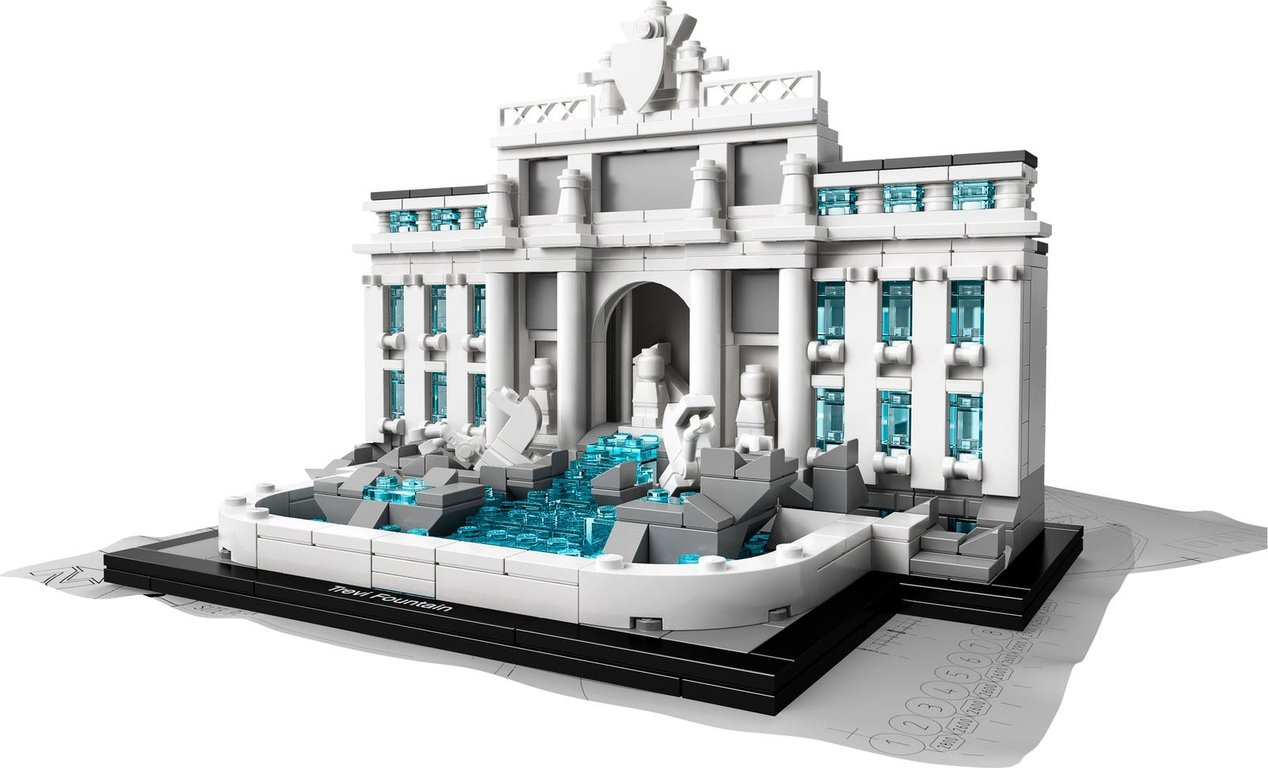 LEGO® Architecture Trevi Fountain components