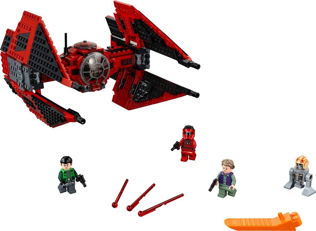 LEGO® Star Wars Major Vonreg's TIE Fighter™ components
