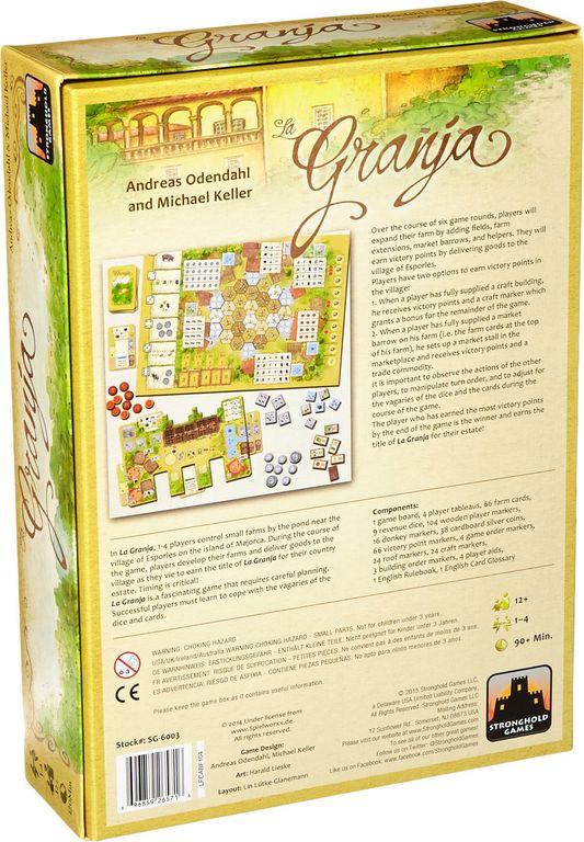 La Granja back of the box