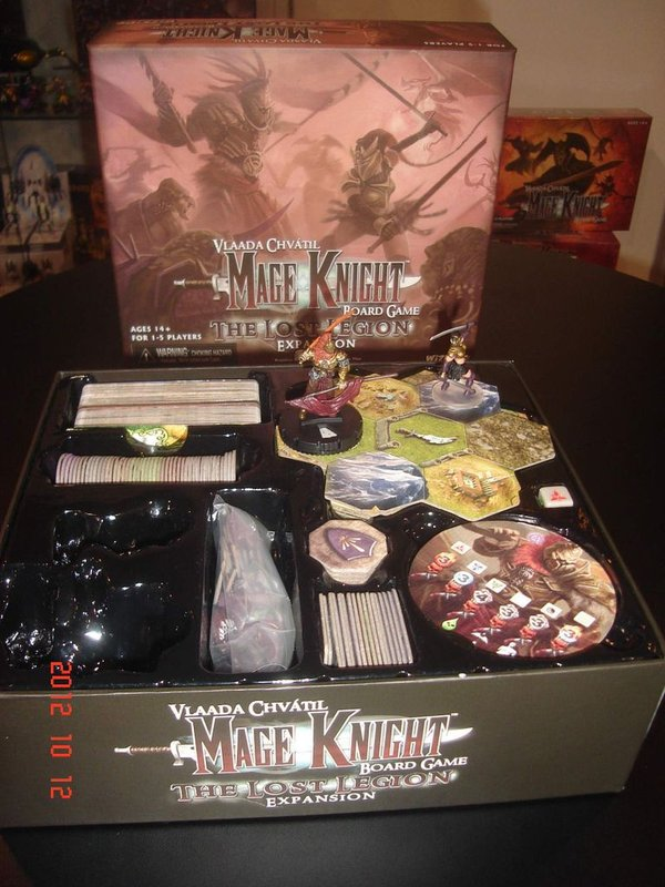 Mage Knight Board Game: The Lost Legion components