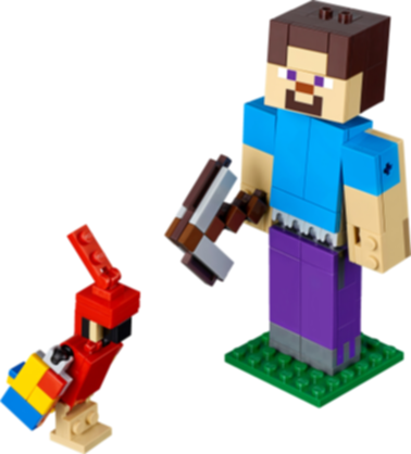 LEGO® Minecraft Steve BigFig with Parrot components