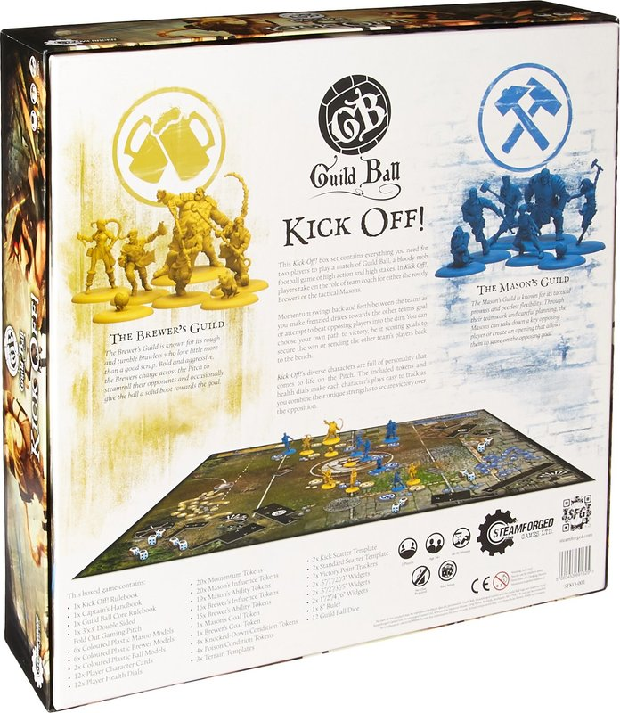 Guild Ball: Kick Off! back of the box