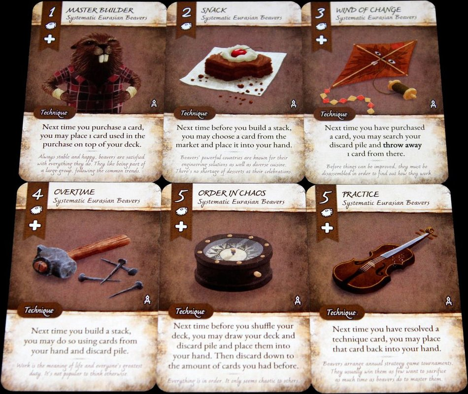 Dale of Merchants: Systematic Eurasian Beavers cards