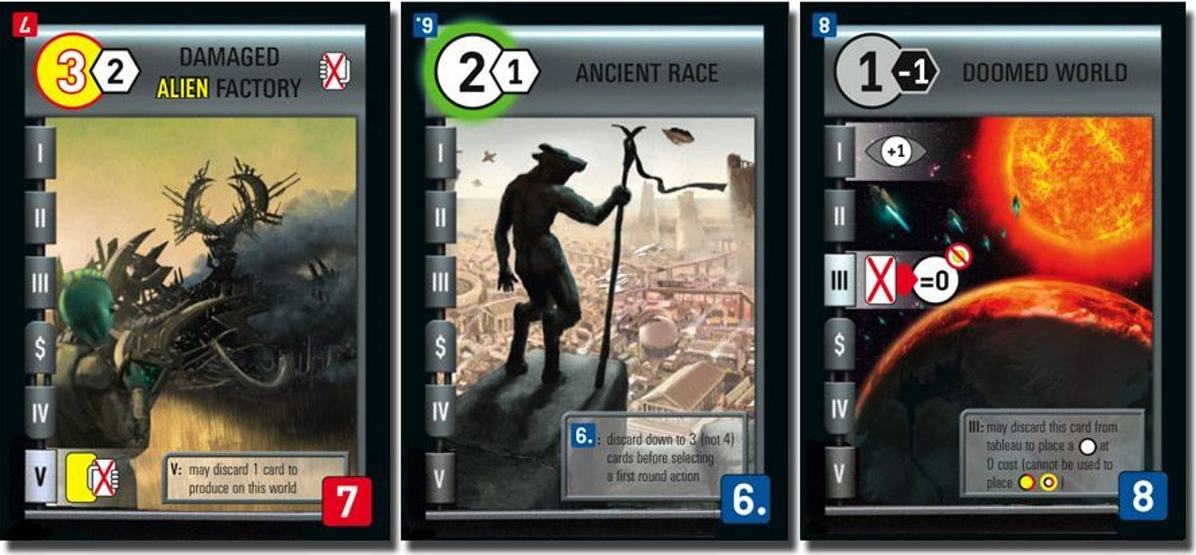 Race for the Galaxy: The Gathering Storm cards