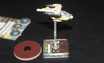 Star Wars: X-Wing Miniatures Game - Auzituck Gunship Expansion Pack components