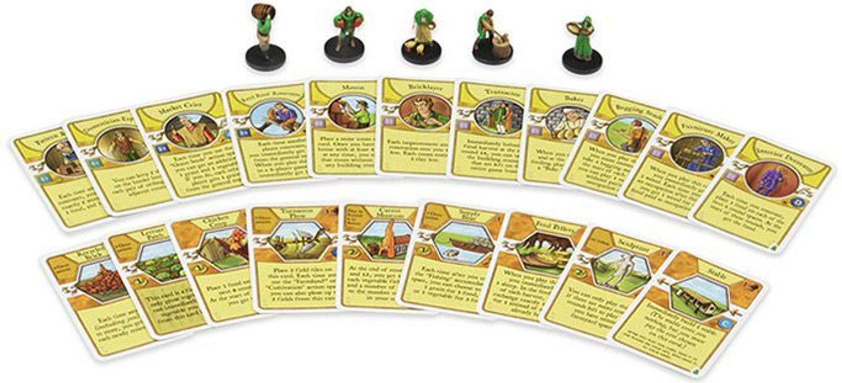 Agricola Game Expansion: Green components
