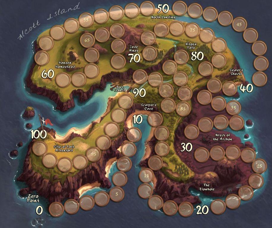 Island Fortress game board