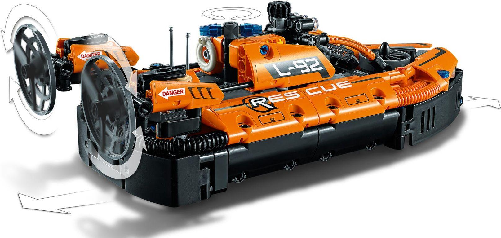 Rescue Hovercraft back side