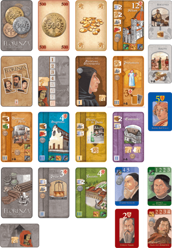 Florenza: The Card Game cards