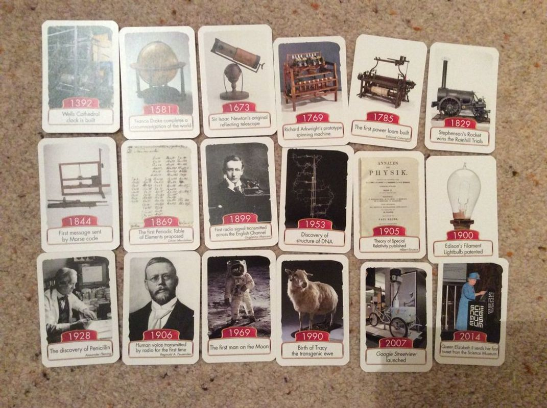 Timeline: Science Museum cards
