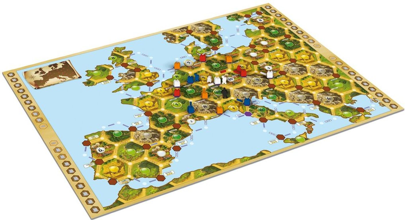 Catan Histories: Merchants of Europe game board
