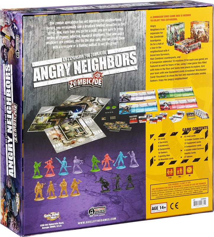Zombicide: Angry Neighbors back of the box