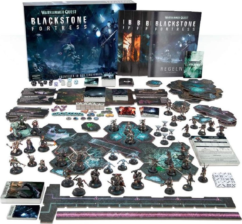 Warhammer Quest: Blackstone Fortress components