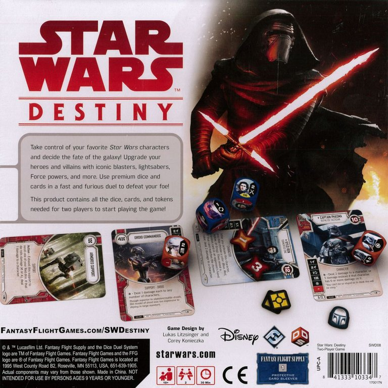 Star Wars: Destiny - Two-Player Game back of the box