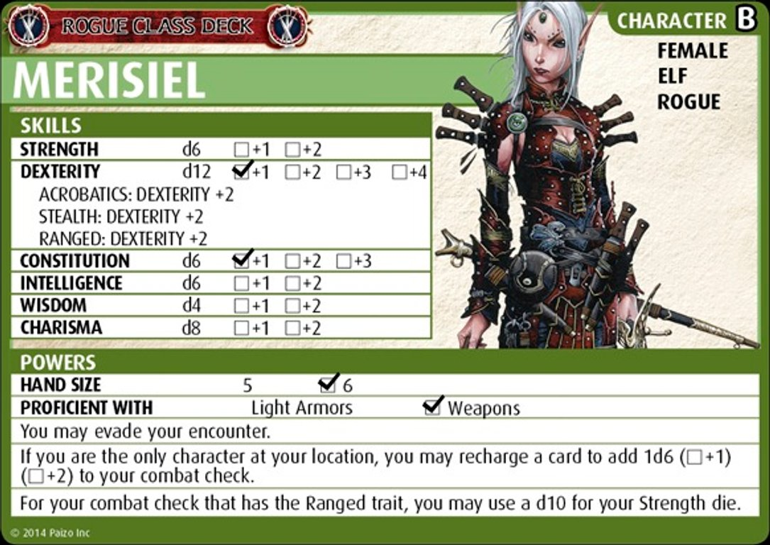 Pathfinder Adventure Card Game: Class Deck - Rogue card